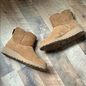 Ugg Shearling Wedge Boots Booties